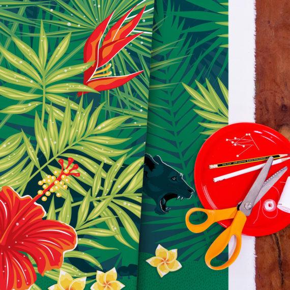 tissu Rainforest collection Wild World