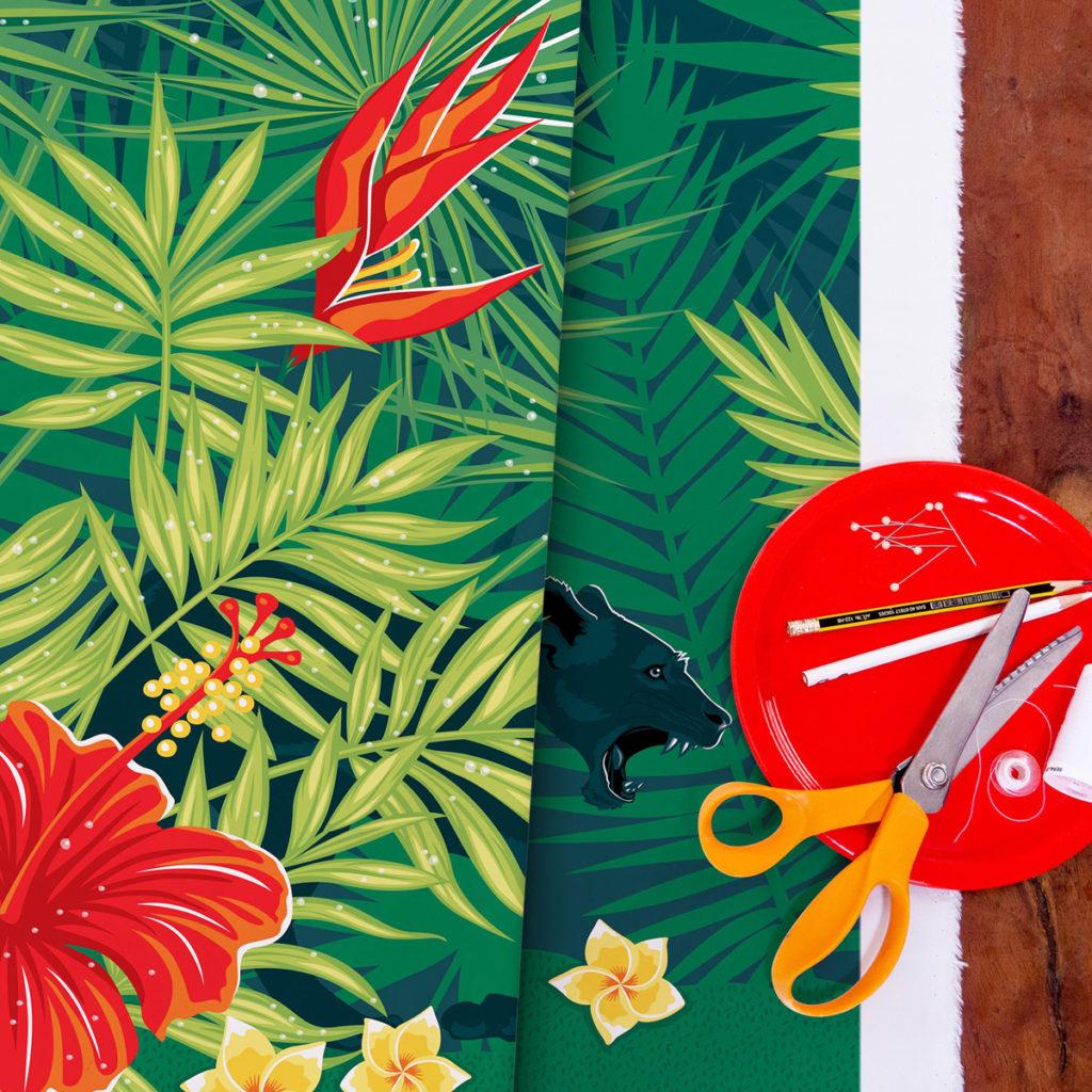 tissu Wild World - Rainforest