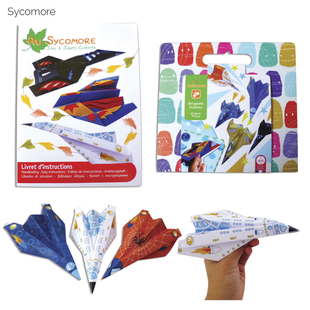Jouet DIY - Origamis Avions - Sycomore / Papersong